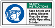 ANSI Safety Instructions PPE Label