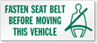 Wear Seat Belt Label