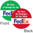 2-sided Magnetic FedEx Status Label