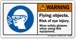 ANSI Warning PPE Safety Label