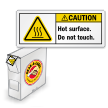 Grab-a-Labels in Dispenser Box Caution Safety Labels