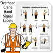 Crane Hoist Warning Label (Pack of 4)