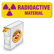 Grab-a-Label Paper Radioactive Labels in Dispenser 7/8