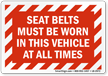 Seat Belt Label