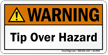 Tip Over Hazard ANSI Warning Label