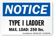 OSHA Notice Ladder Label