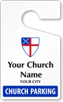 Fully Custom Church Parking Permits, Standard Size