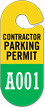 Racetrack Permit Hang Tag, 2-Sided