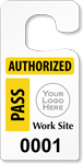 Plastic ToughTags™ Parking Permits for Contractors