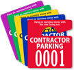 Custom Mini Parking Permit Hang Tag