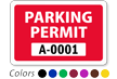 WindowCling™ Parking Permit, with Numbering