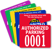 Extra Large Numbers - ToughTags™ Authorized Parking Permits, Small Size, Choice of 9 colors