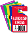 Extra Large Numbers - ToughTags™ Authorized Parking Permits, Standard Size, Choice of 9 colors