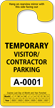 Jumbo 2-Sided Temporary Visitor/Contractor Parking Permit Hang Tag