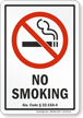 Alabama No Smoking Sign