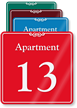 ShowCase™ Apartment Number/Letter Wall Sign