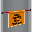 Bilingual Door Barricade Sign