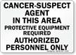 Asbestos Cancer Public Health Sign