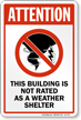 Shelter Area Sign