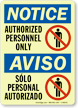 GlowSmart™ Bilingual OSHA Notice / Aviso Sign