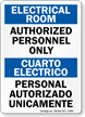 Bilingual Electric Room / Cuarto Electrico Sign