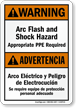 Bilingual ANSI Warning Sign