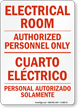 Bilingual Electrical Safety Sign