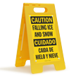 FloorBoss XL™ Bilingual Caution/Cuidado Stand-Up Sign