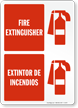 Bilingual Fire and Emergency Sign
