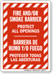 Bilingual Fire & Smoke Barrier Sign