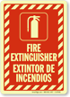 Bilingual Fire Extinguisher Sign (Glow)