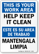 Bilingual Housekeeping Sign