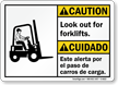 Bilingual ANSI Caution/Cuidado Sign