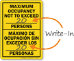 Bilingual Maximum Capacity Sign