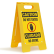 Bilingual FloorBoss XL™ Free-Standing Sign