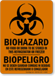 Bilingual Biohazard/Biopeligro Sign