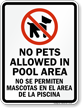 Bilingual No Pets Sign