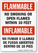 Bilingual Inflammables Sign