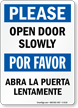 Bilingual Door Sign
