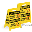 Bilingual Reversible Fold-Ups® Floor Sign