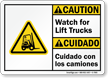 Bilingual ANSI Caution Sign
