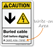 Write On ANSI Caution Sign