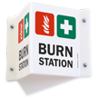 Burn Station 2-Sided Projecting Sign