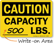 Max Capacity OSHA Caution Sign
