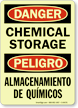 Bilingual Danger / Peligro Glow Sign