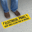 Do Not Block Electrical Panel 6in. x 24in. SlipSafe™ Floor Sign