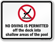 Connecticut No Diving Sign