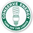 Energy Conservation Sign
