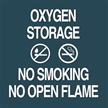 Contour Oxygen Storage Sign, 5.5in. x 5.5in.