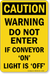 OSHA Conveyor Caution Sign